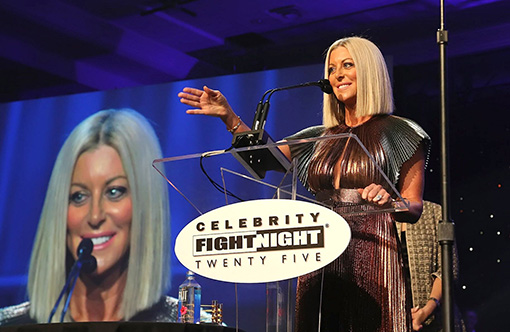 Renee Parsons Honored With Muhammad Ali Humanitarian Award At Celebrity Fight Night 2019